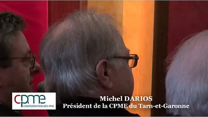 Michel DARIOS président de la CPME Tarn-et-Garonne questionne Jean ARTHUIS Député Européen et ancien ministre @CPMEoccitanie